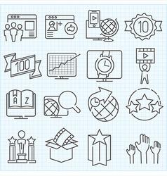 Miscellaneous icons set vector