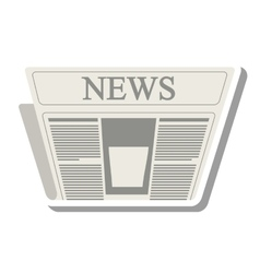 news paper information isolated icon vector image vector image