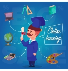 Online Learning Character Concept vector image