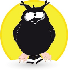 Owl resize vector image