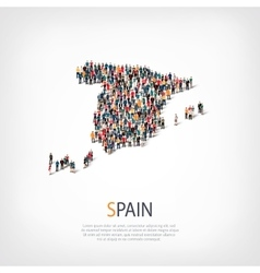 People map country spain vector