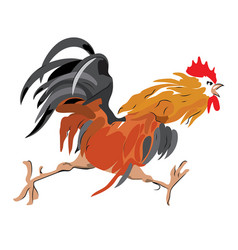 red cock vector image