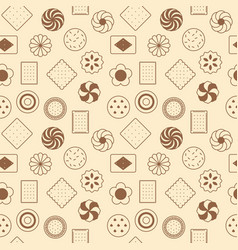 seamless pattern of cookies vector image