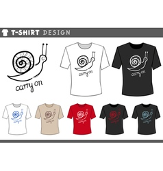 T shirt design with snail vector