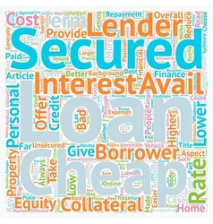 Take Finance at your Terms at Cheap Secured vector image