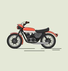 vintage motorcycle flat vector image