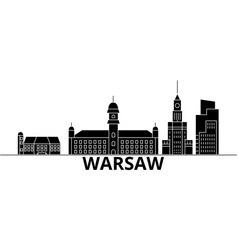 Warsaw architecture city skyline travel vector