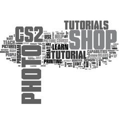 what you should learn from cs photo shop vector image vector image