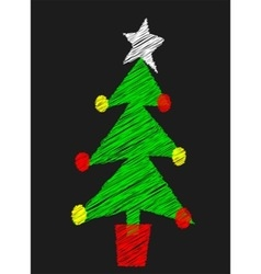 Chalk Board Tree vector image