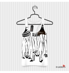 Print for t-shirt - fashion vector