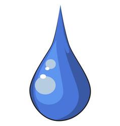 Cartoon image of water drop vector