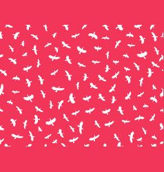 Seamless pattern with birds contours vector