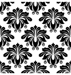 Bold dainty floral seamless pattern vector image