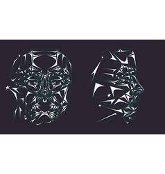 Glass robot face vector