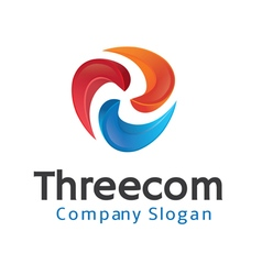 Threecom design vector