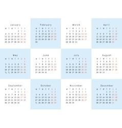 creative calendar vector image