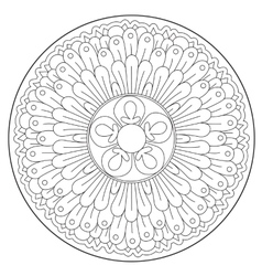 Coloring beautiful round ornament vector