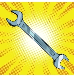 Wrench steel tool vector