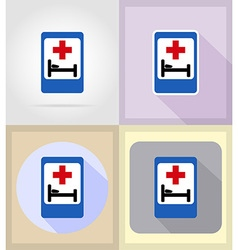 medical flat icons 16 vector image