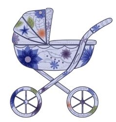 Baby carriage for boy 2 vector image
