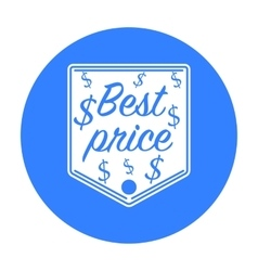 Best price icon in black style isolated on white vector image vector image