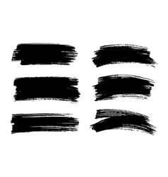 black paint ink brush stroke texture vector image vector image
