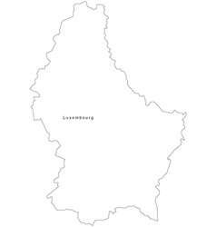 Luxembourg Black White Map Royalty Free Vector Image - Luxembourg map vector
