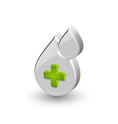 Blood medical icon vector