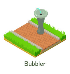 bubbler icon isometric style vector image vector image