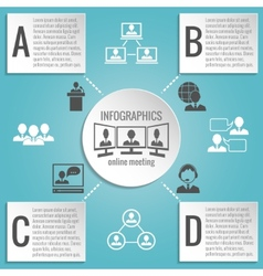 Business people meeting infographics vector image