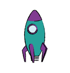 Business startup launch concept rocket icon vector