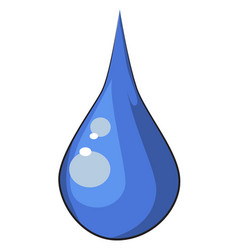 cartoon image of water drop vector image vector image