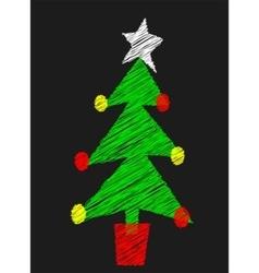 Chalk board tree vector