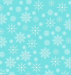 Christmas blue wallpaper snowflakes texture vector image vector image