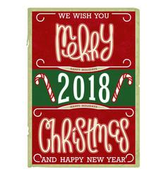 Christmas vintage postcard design vector