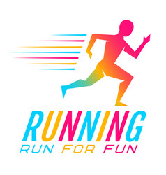 colorful runner vector image