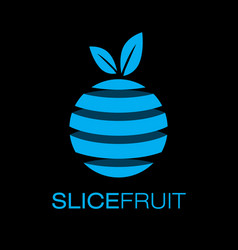 colorful slice fruit logo poster vector image vector image