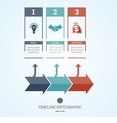Conceptual business timeline infographic 3 vector