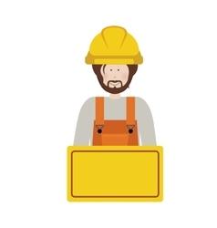 Construction worker cartoon vector image