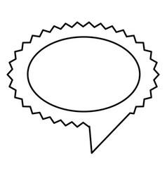 Contour oval cloud chat bubble vector