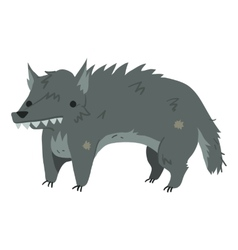 Funny cartoon wolf mascot vector image vector image