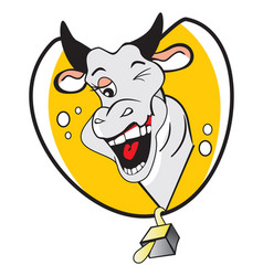 Funny winking cow vector