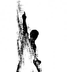 grunge man vector image