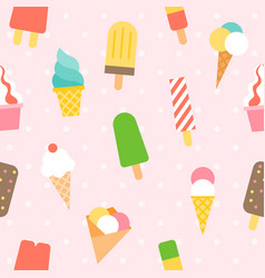 ice cream pattern seamless background vector image vector image