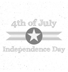 Independence Day 4th of July flat Background vector image
