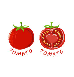 Logo icon design tomato farm vector