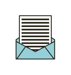 Mail envelope and letter vector