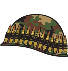 Military helmet icon vector