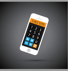 Mobile phone calculator vector