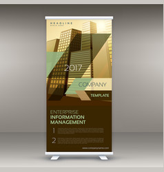 modern standee roll up banner design template for vector image vector image